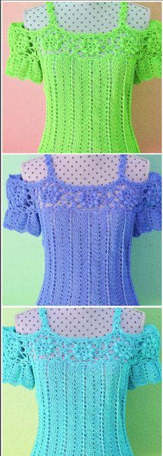 Fabulous Crochet a Little Black Crochet Dress Ideas. Georgeous Crochet a Little Black Crochet Dress Ideas. Crochet Crafts, Easy Crochet, Free Crochet, Knit Crochet, Crochet Projects, Crochet Ideas, Crochet Summer Tops, Crochet Tops, Crochet Shirt