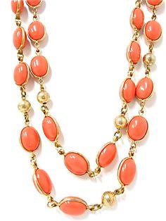 Vintage Crown Trifari Signed Orange Bead by JuliettesJewelsShop, $25.00