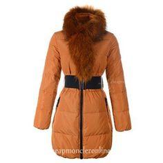 New Moncler Lievre Womens Long Down Coat Gold http://www.cheapmoncleronlinestore.com