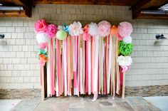Party decorations diy streamers bridal shower Ideas for 2019 Bridal Shower Props, Bridal Shower Decorations, Diy Party Decorations, Graduation Decorations, Lilly Pulitzer Party Decorations, Streamer Decorations, Party Centerpieces, Birthday Decorations, Diy Wedding Photo Booth