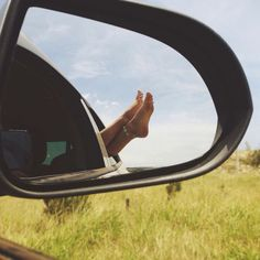 That amazing feeling when you have your feet out the car window
