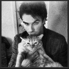 looks like him with my cat :b