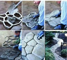 Mould Mold Paving Patio Maker Crazy Paving Stones by JerryAndBerry