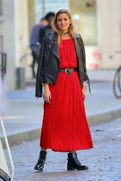 Olivia Palermoin Red on Potoshoot in New York - October 20, 2016