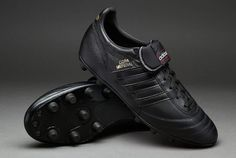 View and buy the adidas Copa Mundial FG - Black/Metallic Gold adidas Classics at Pro:Direct SOCCER. Black Football Boots, Football Shoes, Gold Adidas, Adidas Football, Soccer Cleats, Adidas Sneakers, Metallic Gold, Stuff To Buy, Balls