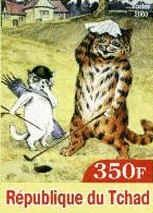 Wain's Cats...  French postage stamps, issued by Chad in 2003 - Louis Wain's Cat Gallery