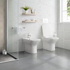 Swiss Madison 0.8/1.28 GPF Plaisir Wall Hung Dual Flush Elongated Toilet Bowl in White-SM-WT660 - The Home Depot Bathroom Toilets, Small Bathroom, Master Bathroom, Bathroom Ideas, Bathroom Organization, Handicap Bathroom, Baby Bathroom, Relaxing Bathroom, Marble Bathrooms