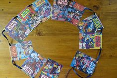 Star Wars comic book Bunting. by SwallowsNestBunting on Etsy