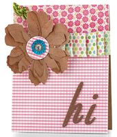 Wood Flower Hi Card by @Julia Stainton - supplies and instructions included