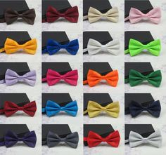 2016 Men's Fashion Tuxedo Classic Mixed Solid Color Butterfly Wedding Party Bowtie Bow Tie Pre Tied Free…