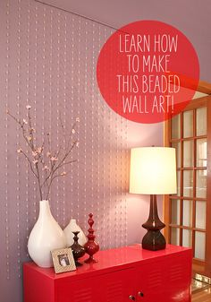 Beaded wall art
