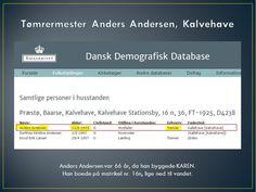 Tømrermester Anders Andersen, Kalvehave, byggede KAREN, da han var 66 år gammel. Han boede på en strandgrund, matrikel nr. 16n, tæt ved Færgegården, lidt vest for havnen. Huset ligger Kalvehave Havnevej 12, Kalvehave, og er opført i år 1900. Kilde: Dansk Demografisk Database og BBR-informationer.