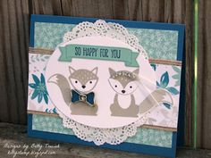 Kitty Stamp: Stamp Review Crew: Foxy Friends Edition, Betty Traciak, Foxy Friends stamp set, Fox builder punch,  Stampin' Up!, Stamp Review Crew