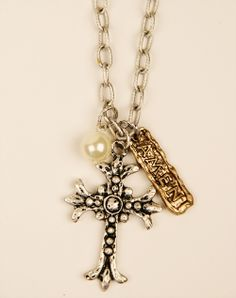 The Big Red Neck Trading Post - Anna Jo Relic Collection--Cross/Pearl, Amen Necklace, $19.99 (http://www.thebigrednecktradingpost.com/products/anna-jo-relic-collection-cross-pearl-amen-necklace.html)