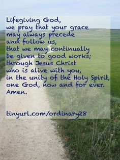 A collect prayer shared by many Christians.