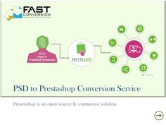 Fast Conversion develop Prestashop responsive theme as well as also convert PSD into pixel perfect Prestashop theme for online store. Either you can provide us your own PSD or let us design a PSD for your online store. Prestashop has more than 300 features which by default make it best among open source e-commerce platform and with our responsive design you get device compatibility which helps you in increasing online presence.