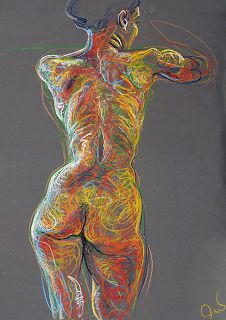 Fred Hatt, drawing with energy - Figurative Artist