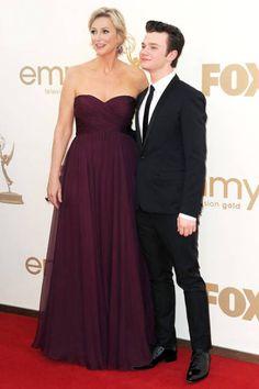 Jane Lynch and Chris Colfer #janelynch #glee