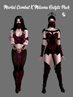 Sims 4 Mods Clothes, Sims 4 Clothing, Sims Mods, Sims 5, Sims 4 Cas, Super Hero Outfits, Super Hero Costumes, Trajes Mortal Kombat, Mortal Kombat Costumes