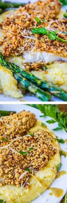 Almond-Crusted Honey Dijon Tilapia from The Food Charlatan // This meal is so easy and flavorful! Perfect healthy dinner.