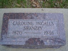 "Caroline Celestia ""Carrie"" Ingalls Swanzey - Third child of Charles and Caroline Ingalls, and was born in Montgomery County, Kansas. She was a younger sister of Laura Ingalls Wilder, who is known for her Little House books. Laura Ingalls Wilder, Ingalls Family, Hill City, Famous Graves, Montgomery County, Old West, Little Houses, South Dakota, Family History"