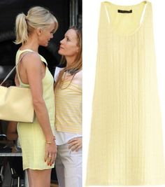 cameron diaz other woman movie pale yellow tank dress OTHER WOMAN MOVIE FASHION PT 2: CAMERON DIAZS WARDROBE
