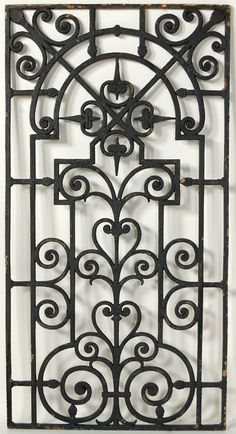 Wrought iron beauties on pinterest wrought iron wrought iron gates and wrought iron decor - Wrought iron decorative wall panels ...