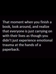 I love that emotional bond with books!!