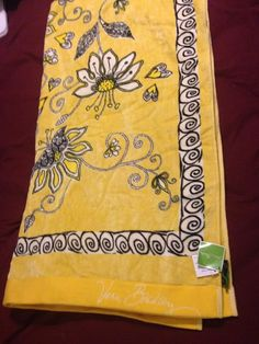Beach Towel in Yellow Bird