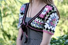 I've had this granny square bolero project on my to-do list FOREVER. Seriously! The pattern came out in the May/June 2008 issue...