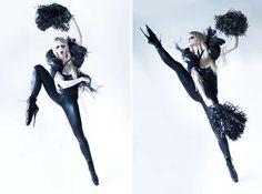 Gothic Cheerleader Editorials - Alla Frost Presents a Dark Photoshoot with Elements of Dance (GALLERY)