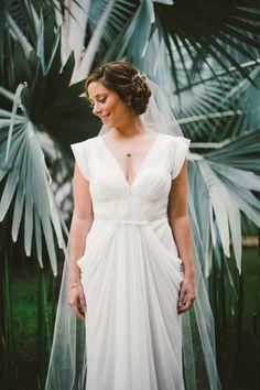 J. Mendel dress: http://www.stylemepretty.com/2014/09/04/elegant-playa-del-carmen-wedding/   Photography: Emily Blake Photography - http://emilyblakephoto.com/