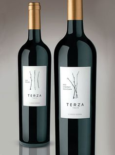 terza volta wines label design