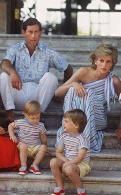 Prince Charles, Princess Diana and the young Princes