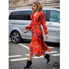 #oliviapalermo #reddress #highheels #dress #skirt #boots #heels #fashionweek #fa...