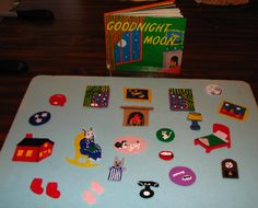 Felt Play Board set for Goodnight Moon; added details with fabric paint