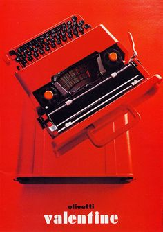 Valentine typewriter by Ettore Sottsass
