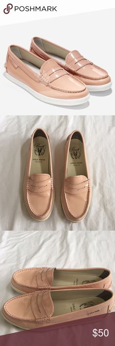 Cole Haan pinch marine classic shoes Good condition. A couple small scuff marks. Gorgeous pale pink color. Cole Haan Shoes