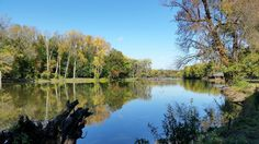 Blue skies and reflections at the Credit Island lagoon in Davenport, Iowa - Photo taken October 16, 2014 by David Sebben on Flickr