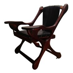 1stdibs - Rosewood & Leather Sling Swinger Chair designed by Don Shoemaker explore items from 1,700  global dealers at 1stdibs.com - library - interesting