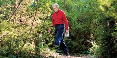 Allen de Hart began hiking at age 5, and his journeys tally more than 57,000 miles. But he always returns home to Louisburg, where he invites others to join him in his backyard garden.