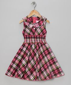 Take a look at this Pink Plaid Sleeveless Dress - Toddler & Girls on zulily today!