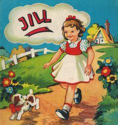 Jill - Dressing Up Book - c.1930s, Sandle Bros.
