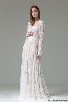 katya katya shehurina floriana long sleeve lace wedding dress