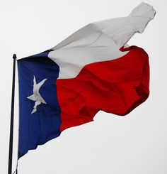 Remember....white to the sky...so you non-Texans won't hang our flag upside down!