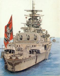 MaritimeQuest - The Art of Admiral Graf Spee Poder Naval, Marine Francaise, Heavy Cruiser, Naval History, Navy Ships, German Army, Aircraft Carrier, Model Ships, Luftwaffe