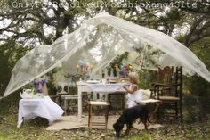 This Mom plans a beautiful Easter party for her children every year....so beautiful and loving.