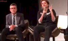 """Dilma é chamada de """"ladra de merda"""" durante palestra em Nova York"""