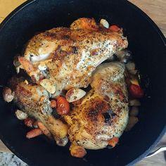 garlicky lebanese chicken
