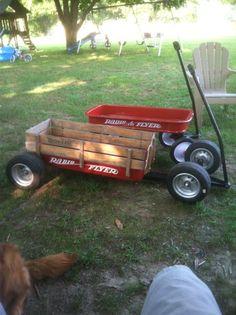 The Sideboard custom radio flyer Custom Radio Flyer Wagon, Radio Flyer Wagons, Kids Wagon, Toy Wagon, Pull Wagon, Handyman Projects, Alex Toys, Little Red Wagon, Drift Trike